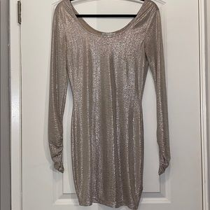 French connection silver dress